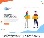 feedback rating service concept....