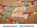 happy birthday hanging vector... | Shutterstock .eps vector #1512446576