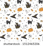 cute halloween seamless... | Shutterstock .eps vector #1512465206