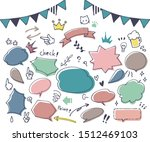 colorful and cute hand drawn... | Shutterstock .eps vector #1512469103