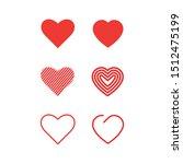 love logo. set of heart vector... | Shutterstock .eps vector #1512475199