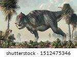 A Gray Tyrannosaurus Rex Stands ...