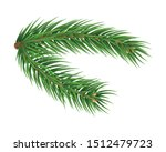 fluffy fir tree brunch isolated ... | Shutterstock .eps vector #1512479723