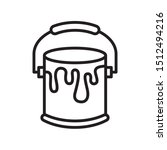 paint bucket icon in trendy...
