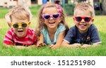 smiling kids at the garden | Shutterstock . vector #151251980