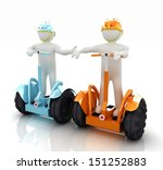 3d people in riding on a... | Shutterstock . vector #151252883