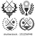 field hockey. vector... | Shutterstock .eps vector #151256948