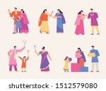 a family character set enjoying ... | Shutterstock .eps vector #1512579080
