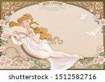 elegant art nouveau style... | Shutterstock .eps vector #1512582716