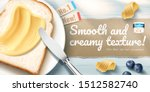 creamy butter ads with... | Shutterstock .eps vector #1512582740