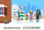 african american family... | Shutterstock .eps vector #1512589883