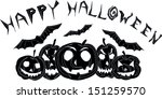 Happy Halloween Black And White