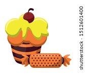 halloween sweet candies and... | Shutterstock .eps vector #1512601400