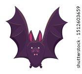 halloween bat flying animal... | Shutterstock .eps vector #1512603659