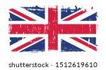 vector uk flag in grunge style. | Shutterstock .eps vector #1512619610