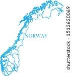 norway map blue color vector | Shutterstock .eps vector #1512620069