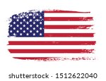 vector usa flag in grunge style. | Shutterstock .eps vector #1512622040