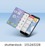 vector mobile or smartphone... | Shutterstock .eps vector #151265228
