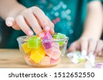 closeup hands of a little child ... | Shutterstock . vector #1512652550