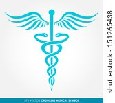 caduceus   medical vector icon | Shutterstock .eps vector #151265438