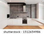 White Cupboard With Built In...