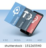 vector mobile application... | Shutterstock .eps vector #151265540