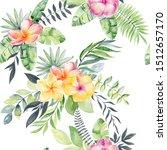 watercolor tropic seamless...   Shutterstock . vector #1512657170