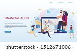 landing page offering financial ... | Shutterstock .eps vector #1512671006