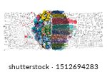 sketch brain  business plan ... | Shutterstock .eps vector #1512694283