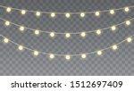 christmas lights isolated on...   Shutterstock .eps vector #1512697409
