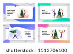 cheerful colleagues celebrate... | Shutterstock .eps vector #1512706100