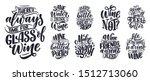 set of wine lettering... | Shutterstock .eps vector #1512713060