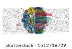 sketch brain  business plan ... | Shutterstock .eps vector #1512716729