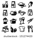vector black food icon set on... | Shutterstock .eps vector #151274420