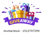 giveaway for promo in social... | Shutterstock .eps vector #1512747290