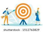 target marketing flat cartoon... | Shutterstock .eps vector #1512763829