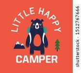 camper bear vector print design ...   Shutterstock .eps vector #1512767666