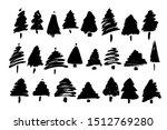 set of ahnd drawn christmas... | Shutterstock .eps vector #1512769280