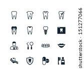 dental icons | Shutterstock .eps vector #151277066