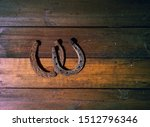 two horseshoes are very old and ... | Shutterstock . vector #1512796346
