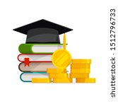 graduation cost or expensive... | Shutterstock .eps vector #1512796733