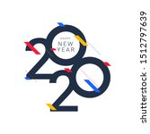 happy new year 2020 design... | Shutterstock .eps vector #1512797639
