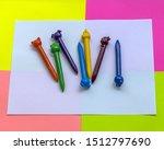 multicolored wax pencils on a... | Shutterstock . vector #1512797690