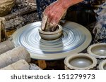 potter makes on the pottery... | Shutterstock . vector #151279973
