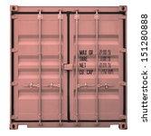 Rusty Orange Container Doors