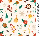 christmas accessories flat... | Shutterstock .eps vector #1512813740