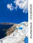 oia town   santorini island ... | Shutterstock . vector #151283420