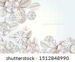 abstract white floral... | Shutterstock .eps vector #1512848990