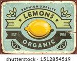 premium quality organic lemons... | Shutterstock .eps vector #1512854519