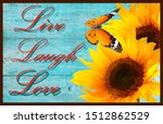 Live Laugh Love Doormat With...